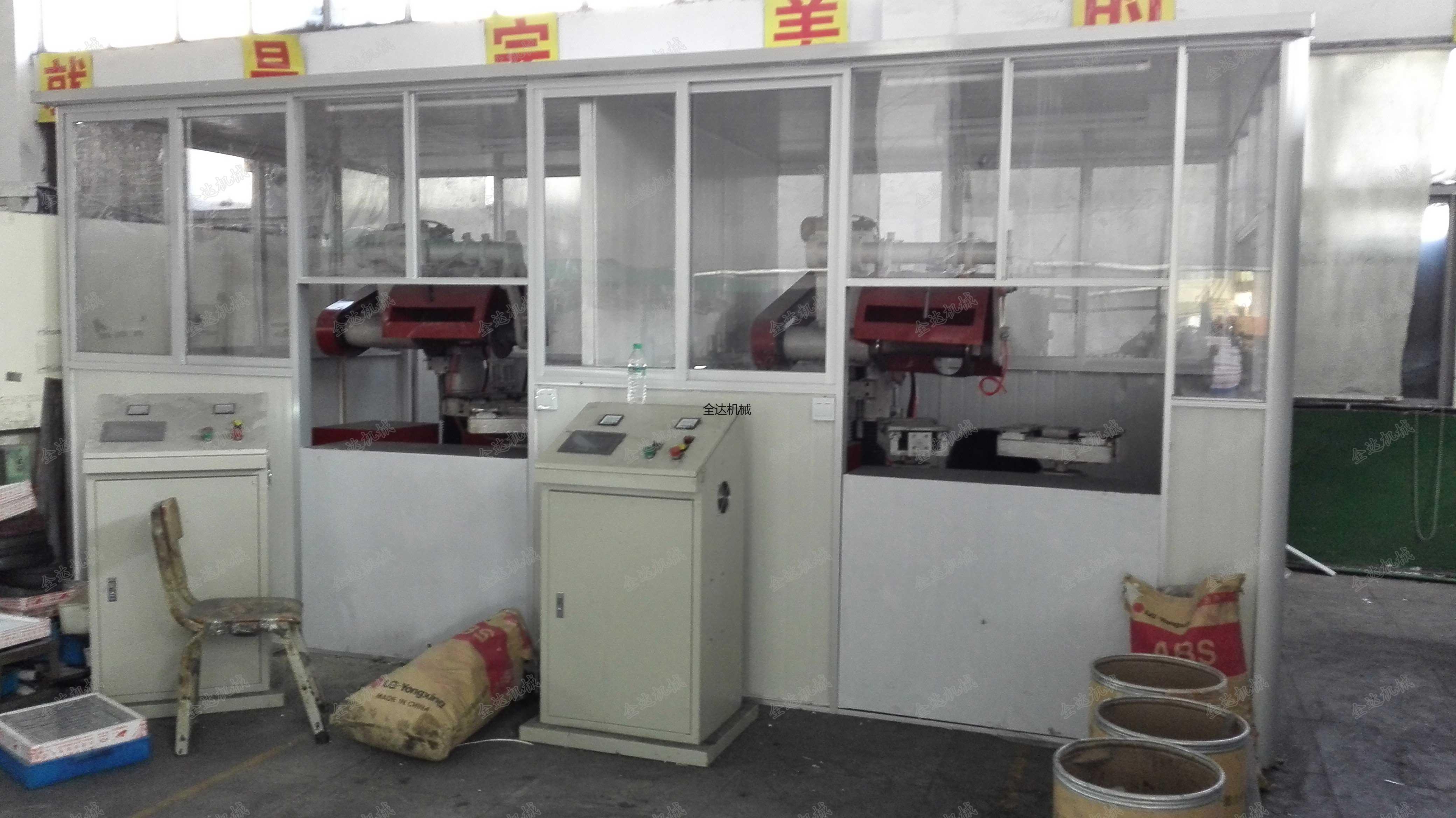 隔间现场|江西宜春恒珠柜锁集团平磨抛光机
